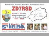 QSL St. Helena Day 2007