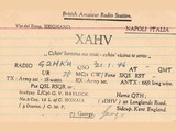 Naples, Italy ÷AQ (Home-made card - on an index card. Backstamped 15 February...