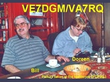 DA1MH Bill (VE7DGM), DA2HK Doreen (VA7RQ)