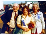 Gus, with Agnes S. 'Peggy' Browning (1913-2007) and daugther Peggy jun. ©K8MN