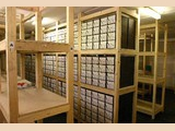 The majority of the six million cards currently on file are kept in two large...
