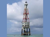 Vietnamese operated lighthouse on Ladd Reef near the Southwestern end of the...