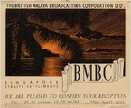 BMBC - British Malaya Broadcasting Co. in Singapur