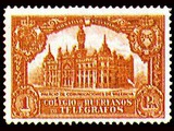 Valencia Communications Palace charity stamp, Galvez orphans of the telegraph...