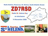QSL St. Helena Day 2009