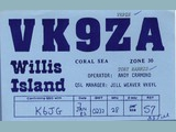 Andy Cramond, 1982 (& Tony Harris VK9ZH) - QSL via VK6YL