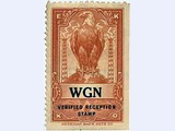 Chicago, IL -  Op.: Chicago Tribune - Slogan: World's Greatest Newspaper (=WGN)