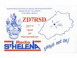 QSL St. Helena Day 1997
